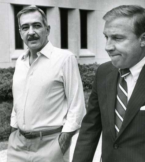 July 1985 Jim Williams leaving with lawyer S. Seiler